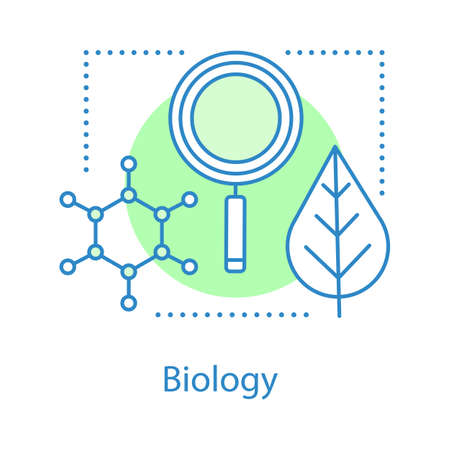 Biology concept icon. Science. Scientific research. Nature learning. Ecology idea thin line illustration. School or university subject. Vector isolated outline drawing