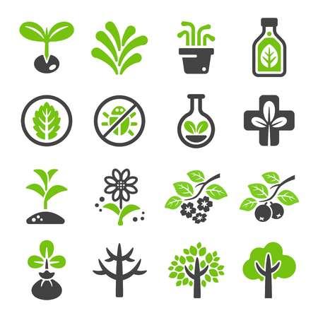 Illustration pour plant icon set - image libre de droit