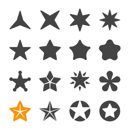 Illustration for star icon set - Royalty Free Image