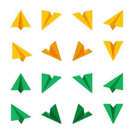 Photo pour paper plane,paper rocket icon set,flat icon style,vector and illustration - image libre de droit