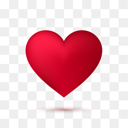 Ilustración de Soft red heart with transparent background. Vector illustration - Imagen libre de derechos