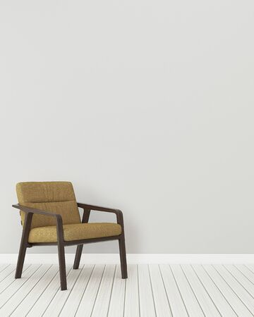 Photo pour Comfort space in home. Relax room interior.Empty room with classic chair. -3d rendering - image libre de droit