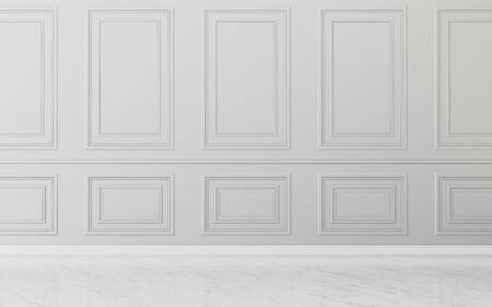 Photo pour Common space in house.empty room . classic interior design. -3d rendering - image libre de droit