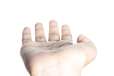 Photo for Close up of beautiful  hand isolated on white background with clipping path. - Royalty Free Image