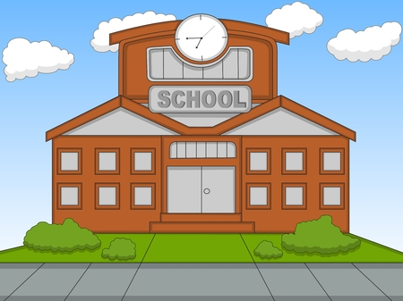 Illustration for School cartoon vector illustration - Royalty Free Image