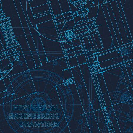 Illustration pour Blueprint. Technical cyberspace. Instrument-making drawings. Mechanical Corporate Identity - image libre de droit