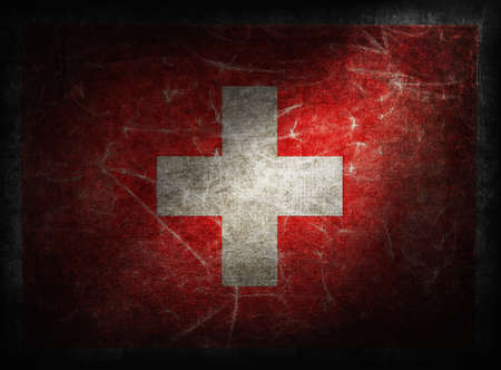 Switzerland grunge flag