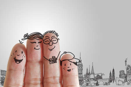 Photo pour  finger family travels - image libre de droit