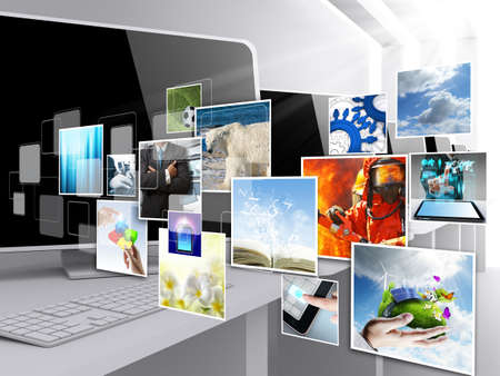 internet streaming images as concept