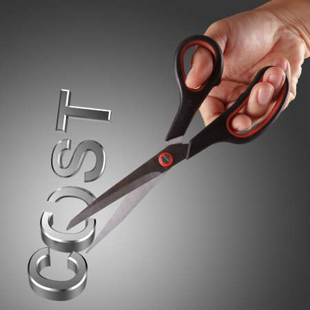 Cutting costs with hand and scissor