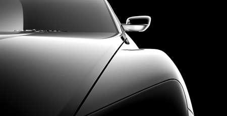 Photo pour abstract car model on black - image libre de droit
