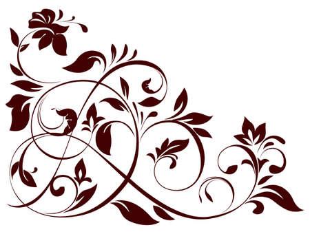 illustration of floral ornament
