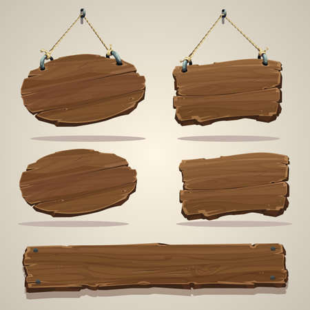 Wood board on the rope.