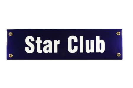 Star Club Hamburg German enamel Street Sign