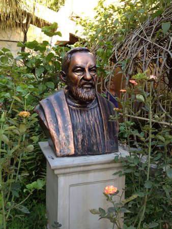 St. Pio petrilcina bust located in libis. Manila. Philippines