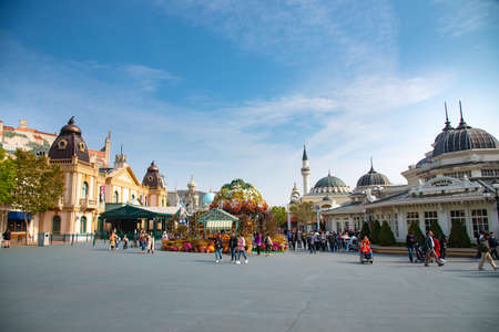 Photo for Everland park Korea 2018-22-october unidentified tourist travel in Everland park    famous place in Korea in 2018-22-october , Korea - Royalty Free Image