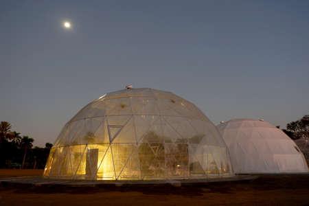Geodesic plastic dome