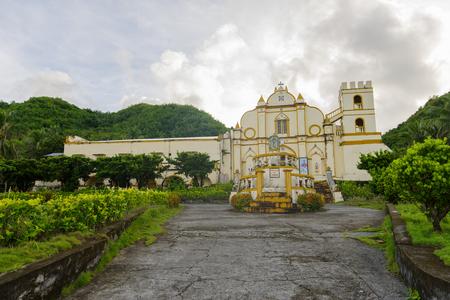 San Jose de Obrero Church view from road, Batanes, Philippines