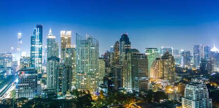 Photo pour Bangkok city night view, Thailand - image libre de droit