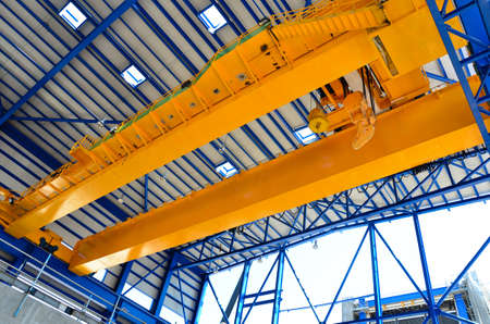 Photo for Factory overhead crane  - Royalty Free Image