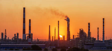 Photo for Oil Industry - refinery factory - Royalty Free Image
