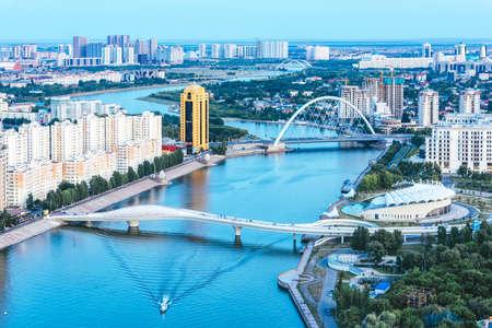Photo pour Capital of Kazakhstan Astana landscape - image libre de droit