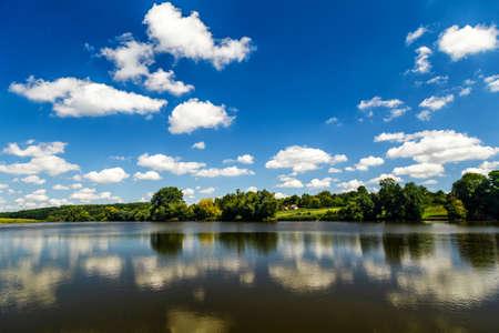 Photo pour Carpfishing session at the Lake.Carp Angling scenic landscape overlooking lake at Dawn.Fishing adventures, carp fishing. - image libre de droit