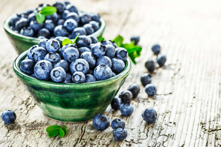 Photo for Fresh blueberries background with copy space for your text. Blueberry antioxidant organic superfood in a bowl concept for healthy eating and nutrition - Royalty Free Image