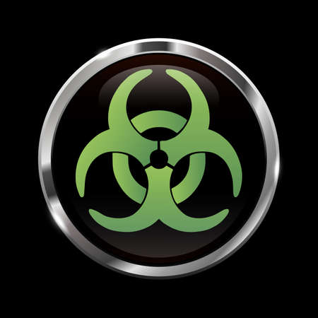 Glowing biohazard sign