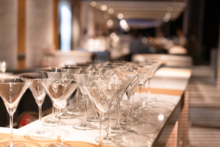Foto de Wine glass at the pub.  Drink concept - Imagen libre de derechos