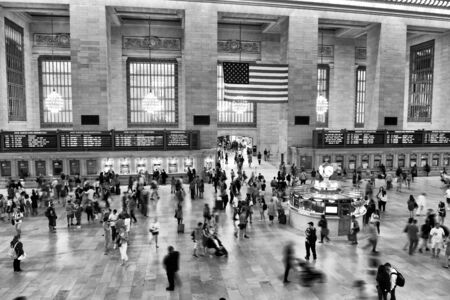 Photo for New York, USA - May 26, 2018: People in Main hall Grand Central Terminal, New York. - Royalty Free Image