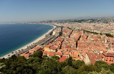 Photo for View of the beach and promenade of Nice, France - Royalty Free Image