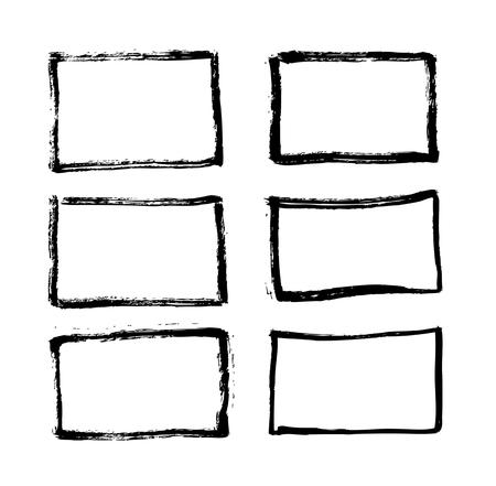 Illustration pour Brush lines set. Vector illustration - image libre de droit