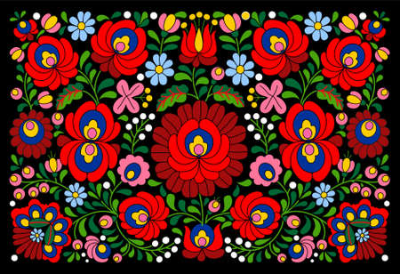 Traditional Authentic Hungarian Pattern