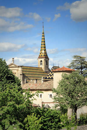 Photo pour Monastery of Valbonne founded in 1204 near  Saint Paulet de Caisson in Gard Provencal, south of France   historical monument  - image libre de droit