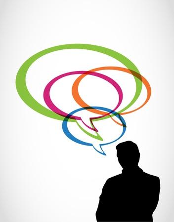 Illustration pour Thoughts and ideas at business - image libre de droit
