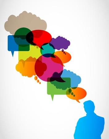 Illustration pour business speech bubbles concept - image libre de droit