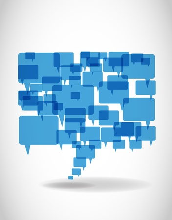 Illustration for Abstract big blue speech bubble - Royalty Free Image
