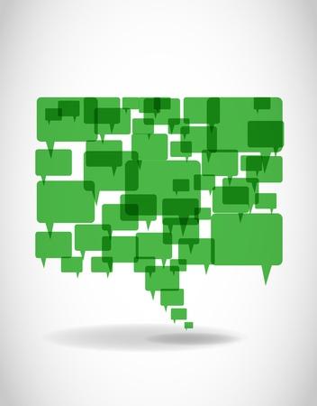 Illustration pour Go Green Speech And Thought Bubbles - image libre de droit