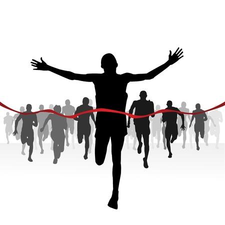 Marathon runners-Finishing line