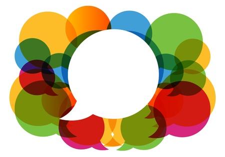 Illustration pour colorful dialog bubbles  - image libre de droit