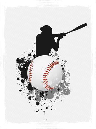 Baseball grunge poster background