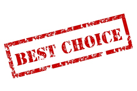 Illustration pour Grunge Best choice stamp - image libre de droit