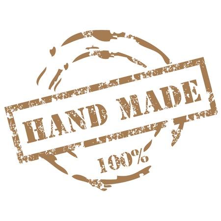 Illustration pour Handmade stamp - image libre de droit