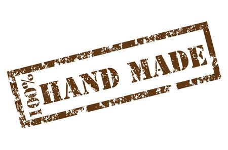 Illustration pour 100% Handmade stamp - image libre de droit