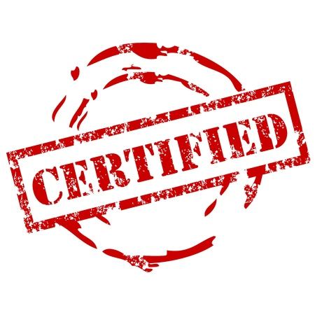 Illustration pour Certified rubber stamp - image libre de droit