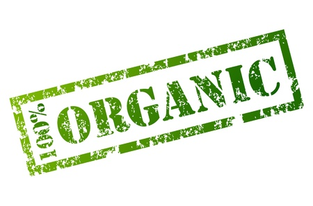 100% Organic stamp