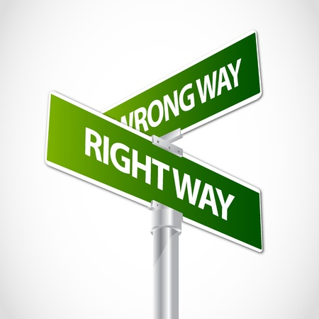 Right way, Wrong way sign