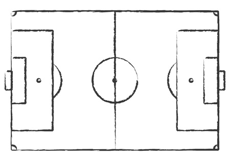 Hand Drawn Grunge Soccer Field