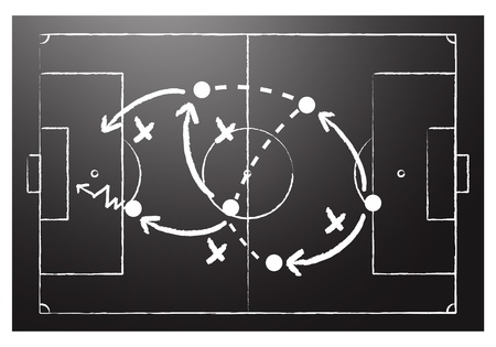Soccer formation tactics